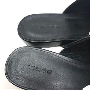 Vince Oren 2 Black Leather Mules - Size 8.5